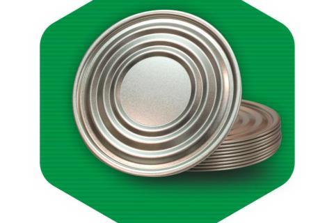 درب قوطی فلزی ساده